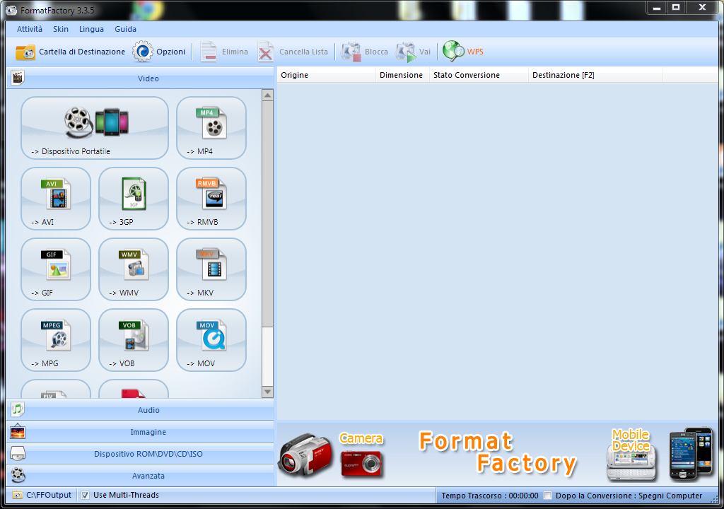 ScreenShot Format Factory 3.3.5.0