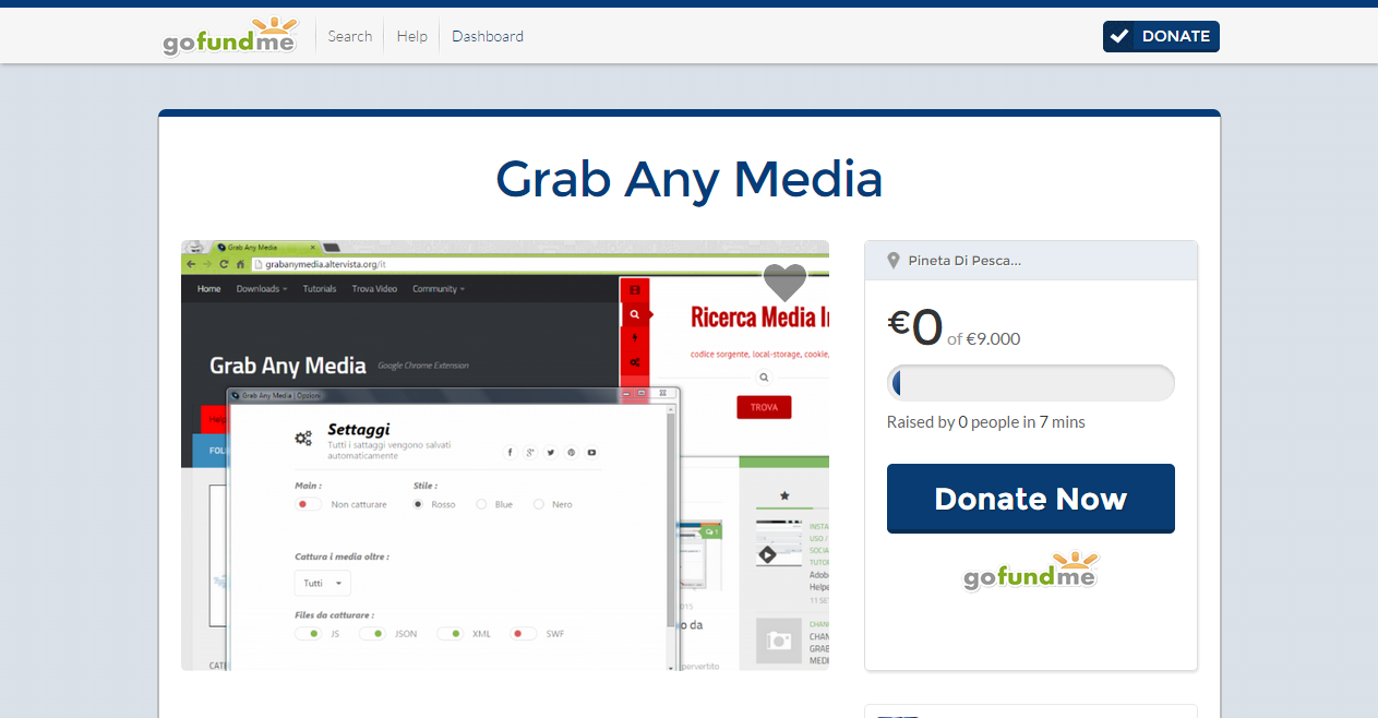 Grab Any Media FundMe